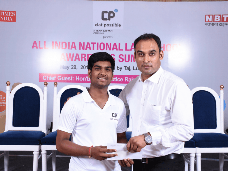 CLAT AIR 2 VANSH AGGARWAL BEING AWARDED BY SATYAM SAHAI