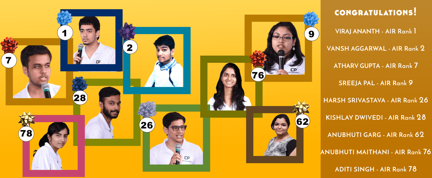 HALL OF FAME STUDENTS FROM CLAT POSSIBLE AMONG TOP 100 IN CLAT 2016