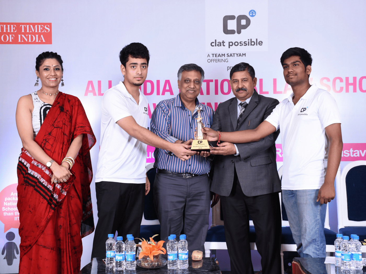 CP STUDENT OF THE YEAR TROPHY BEING SHARED BY AIR 1 VIRAJ AND AIR 2 VANSH AGGARWAL