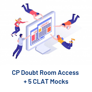 CP Doubt Room Access + 5 CLAT Mocks